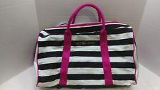 Striped White/Black Victoria's Secret Duffle, Weekender, Gym Tote Bag,GUC