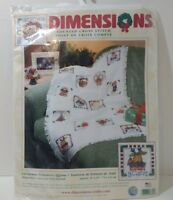 "Christmas Treasures Afghan Cross Stitch Kit Dimensions Unopened 29"" x 45"""
