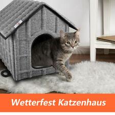 Faltbar Katzenhaus Katzen Winterfest Katzenhöhle Matratze Weich Warm Hundekatze