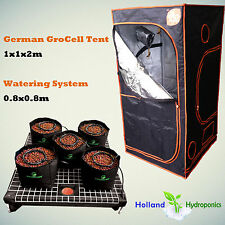 Indoor German GroCell Grow Tent 1x1x2m Hydroponic Watering System 100 Irrigation