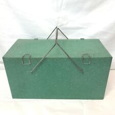 Vintage Preway Speckled Metal Camp & Picnic Ice Box Chest Cooler Prentiss Wabers