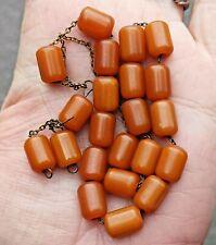 More details for antique butterscotch bakelite , faturan prayer beads