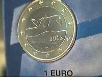 1 euro 2002 fdc FINLANDIA finlande suomi finnland Finland Финляндия 芬兰 フィンランド