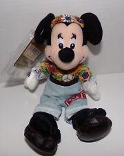 """Hippie Minnie Mini Bean Bag Plush 8"""" Especially For Disney Store - New NWT"""