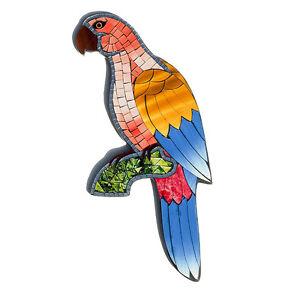 Fair Trade Hand Crafted Mosaic Parrot Wall Art