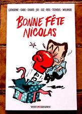 """Album dessins """"BONNE FËTE NICOLAS"""" Cabu, Wolinski...CHARLIE HEBDO"""