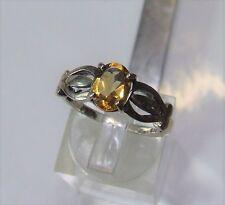 Golden citrine in sterling silver ring...2.6 grams