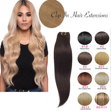 7 Bandes Extensions a Clips Cheveux Naturels Raide Remy Human Hair Extension FR