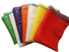 Mix 50 Orange & 50 Green Net Sacks 55cm x 80cm 30Kg Mesh Woven Bags Logs Onions