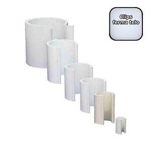 Clips Serra 1 Kg in PVC per fissaggio telo plastico serre o rete FISSA-TELO
