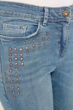 Next Mid Blue Studded Skinny Jeans 14XL