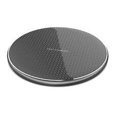 Zeus Ultra-Thin Aluminum Wireless Fast Charger Mat Pad - Black, 10W Max