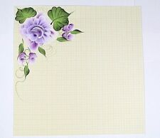 Girl Purple rose Scrapbook Page Scrapbooking  Creative PreMade Hand painted