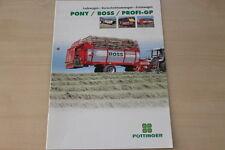 158678) Pöttinger Ladewagen Pony Boss Profi GP Prospekt 01/2001