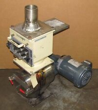 """PLASTIC INJECTION MOLDING PELLET MIXER 10"""" X 8"""" STAINLESS S/S W/ MAGNETIC HOPPER"""