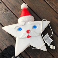 Vintage SANTA STAR Plastic Blowmold BLOW MOLD Christmas UNION PRODUCTS Works