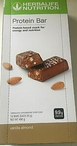 Herbalife Protein Vanilla Almond 14 Bars per Box  Free Post