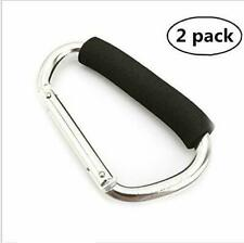2PC Large D Shape Carabiner 485lbs with Grip Camping Handhold Clip Hook