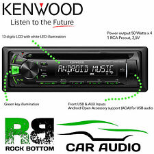 KENWOOD kdc-100ug Auto CD mp3 USB AUX GREEN KEY sintonizzatore radio stereo RDS LETTORE