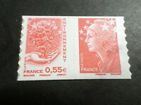 FRANCE 2008, PAIRE timbre 175 et 177 MARIANNE/ARBRE, neuf**, AUTOADHESIF, MNH