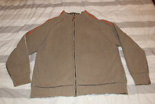 """VINTAGE FAT FACE , KHAKI CARDI , MENS L with a 48"""" CHEST SO LOOSE FITTING !"""