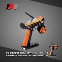 Flysky FS-GT3C 2.4G 3CH Digital Transmitter+ FS-GR3E Receiver for Boat Car 3D0N