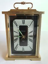 Bulova Quartz Carriage Desk Clock, Model B7270, Quality Made Japan, Tested Good