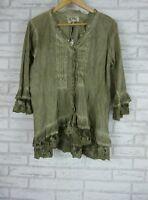 KAJA Top/blouse Sz 14 100% cotton Grey