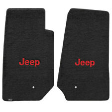 FOR Jeep WRANGLER UNLIMITED 2007-2013 Front Floor Mats BLACK RED JEEP LOGO 62006
