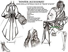 TYLER & GENE Doll Pattern SCARLETT O'HARA'S WINTER ACCESSOR. GONE WITH THE WIND