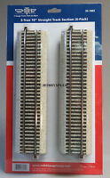 """MTH S-TRAX 10"""" STRAIGHT TRACK 6 SECTIONS S GAUGE AF 2 rail train inch 35-1002"""