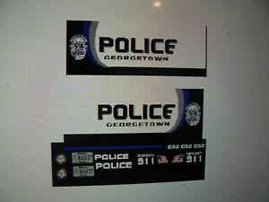Georgetown Kentucky   Police Vehicle Decals Custom 1:43
