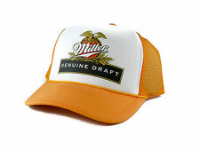 vintage Miller Genuine Draft beer Trucker Hat mesh hat snapback hat yellow