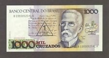 1989 1000 CRUZADOS BRAZIL CURRENCY UNC BANKNOTE NOTE MONEY BANK BILL CASH BRASIL