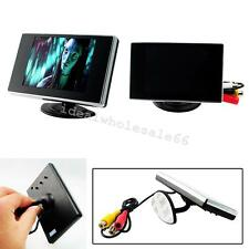 "3.5"" TFT LCD Car Rear View Mirror Monitor+Night Vision Backup Reverse Camera Kit"