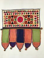 India Vintage Home Decor Bohemian Hand Embroidery Door Toran Valance Hanging
