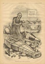 Political Cartoon, by Th. Nast, Political Vampire, Vintage, 1879 Antique Print.