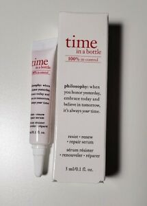 Philosophy Time in a Bottle Daily Age-Defying Serum 0.1oz. Travel Size New