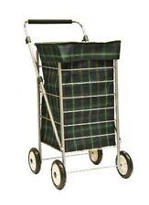 Brand New Sabichi 4 Wheel Shopping Trolley Tartan Check