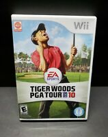 Tiger Woods PGA Tour 10 (Nintendo Wii, 2009) Game with Manual CIB TESTED