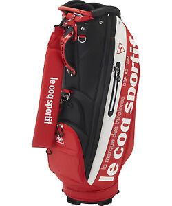 le coq sportif GOLF COLLECTION Staff Carry Bag - QQBQJJ01 Red & White color