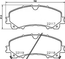 TEXTAR Bremsbelagsatz passend für div. Infinity, Nissan - Nr. 2211701