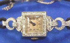 ANTIQUE PLATINUM & DIAMOND LONGINES WRISTWATCH - STUNNING - No Reserve Auction !