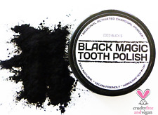 NATURAL VEGAN CHARCOAL POWDER TOOTH WHITENING POLISH * SPECIAL OFFER RRP £8.95