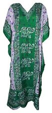 Women Beachwear Green Kaftan Tunic Long Length Summer Cocktail Evening Dress