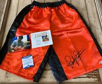 Randy Couture Autographed/Signed Trunks Shorts Beckett COA MMA UFC