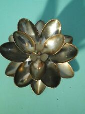 Stainless Steel Welded Spoon Art Flower Decor Candle Dish