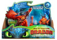 How To Train Your Dragon Snotlout and Hookfang Toy Figures Ages 4+