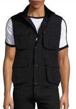 Ralph Lauren Black Label Leather Trim Cargo Vest Size Large