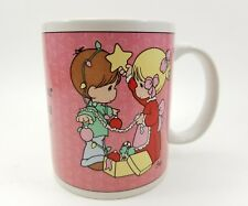"1996 Precious Moments Enesco Coffee Mug Cup ""Sharing Our Christmas Together"""